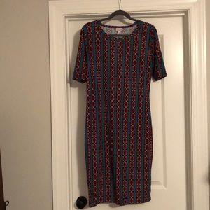 LuLaRoe Like New Julia Dress size L